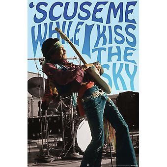 Jimi Hendrix - kyssa himlen affisch affisch Skriv ut