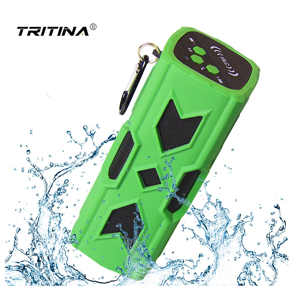 Tritina Angle4 Bluetooth Speaker Portable Wireless Soundbar with Bass Waterproof Shock Resistance Built-in Mic, Shower, Outdoor