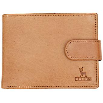 Felda Genuine Cow Hunter Leather Luxury Mens Bi Fold Wallet 8 Credit Card Slot, Coin Pocket & Presentation Gift Box