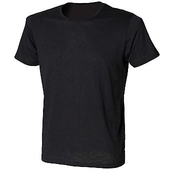 Skinni Fit Mens Colours Slub Short Sleeve Cotton Crew Neck Fitted T-Shirt