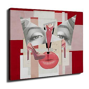 Tyylikäs muoti Wall Art Canvas 40 cm x 30 cm | Wellcoda
