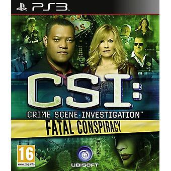 CSI fatal sammensværgelse (PS3)-ny