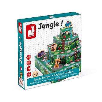 Janod Jungle! Snakes & Ladders Board Game