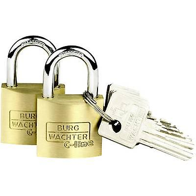 Burg Wächter 2er Set Duo 222 30 SB Padlock Brass Key