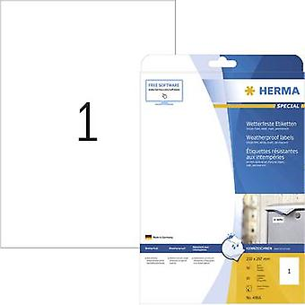 Herma 4866 Labels 210 x 297 mm Film White 10 pc(s) Permanent All-purpose labels, Weatherproof labels