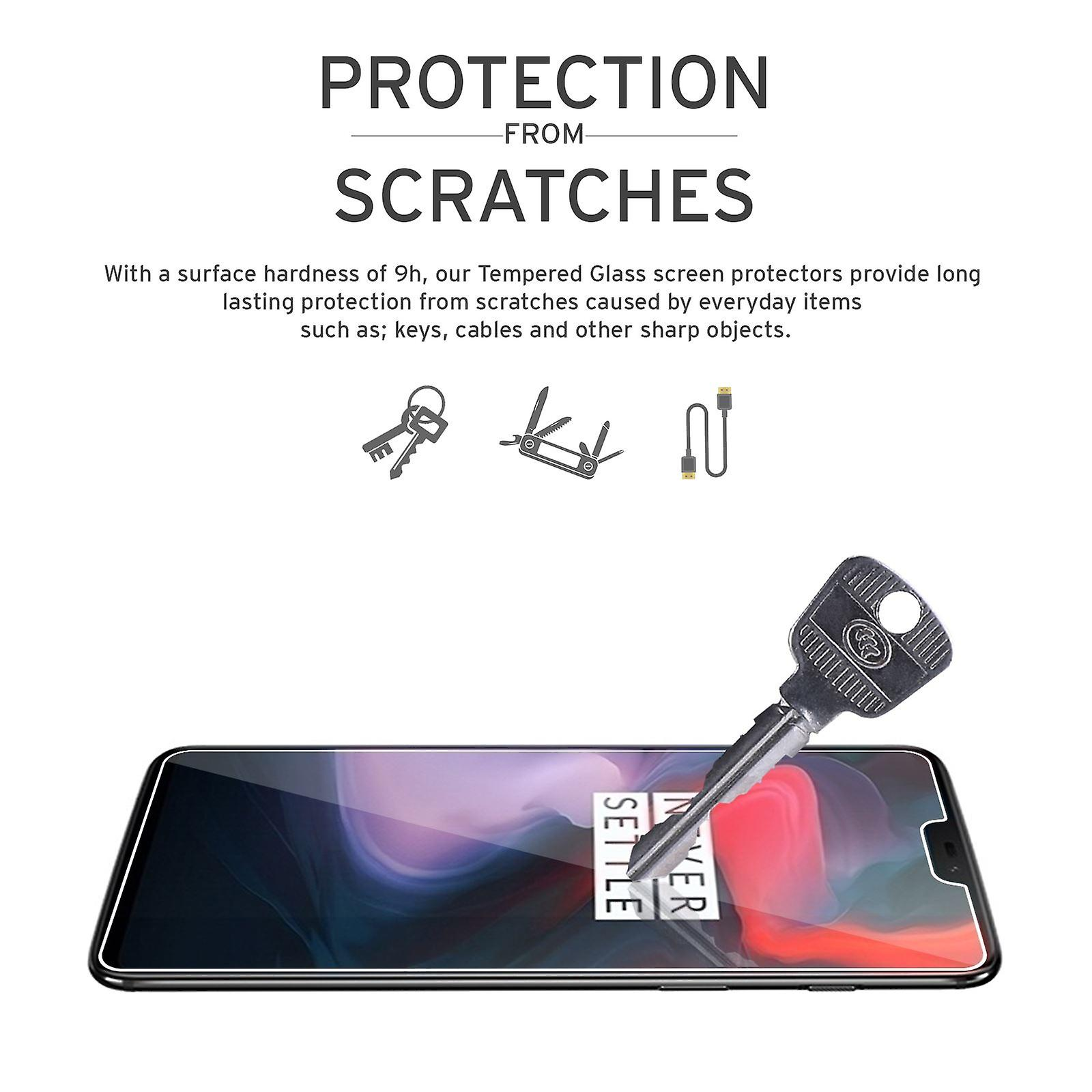 Extra Armoured Tempered Glass for OnePlus 6 - 2 Pack