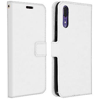 Clásicos de la serie, tapa caja monedero para Huawei P20 - blanco