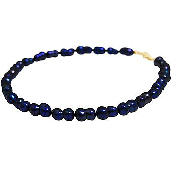 GEMSHINE Women's Necklace Baroque Beds in Midnight Blue 925 Silver or Gilded GEMSHINE Women's Necklace Baroque Beds in Midnight Blue 925 Silver or Gilded GEMSHINE Women's Necklace Baroque Beads in Midnight Blue 925 Silver or Gilded