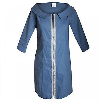 Crea Concept Women's 3/4 Sleeve Zip Front Dress