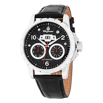 Burgmeister BM248-122 Ruston, Gents automatic watch, Analogue display - Water resistant, Stylish leather strap, Classic men's watch