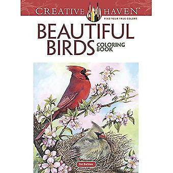 Kreative Oase schöne Vögel Malbuch (Erwachsene Färbung)