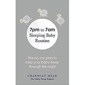 19:00 à 07:00 coucher bébé Routine