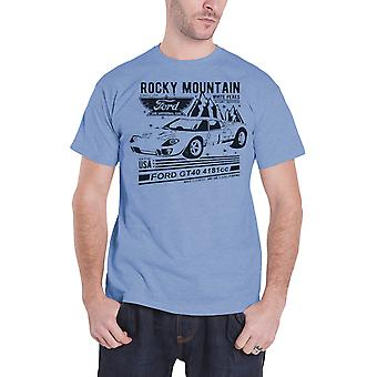 Ford T Shirt GT40 Rocky Mountain new Official Mens Blue