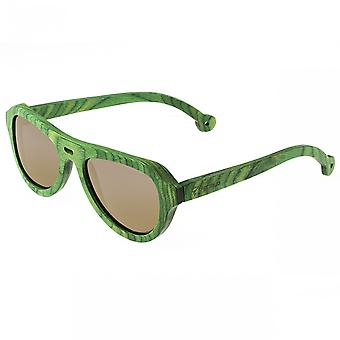 Spectrum Morrison Wood Polarized Sunglasses - Green/Gold