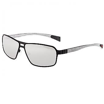 Breed Meridian Titanium and Carbon Fiber Polarized Sunglasses - Black/Silver