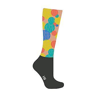 HyFASHION Adults Spot the Horseshoe Pattern Riding Socks