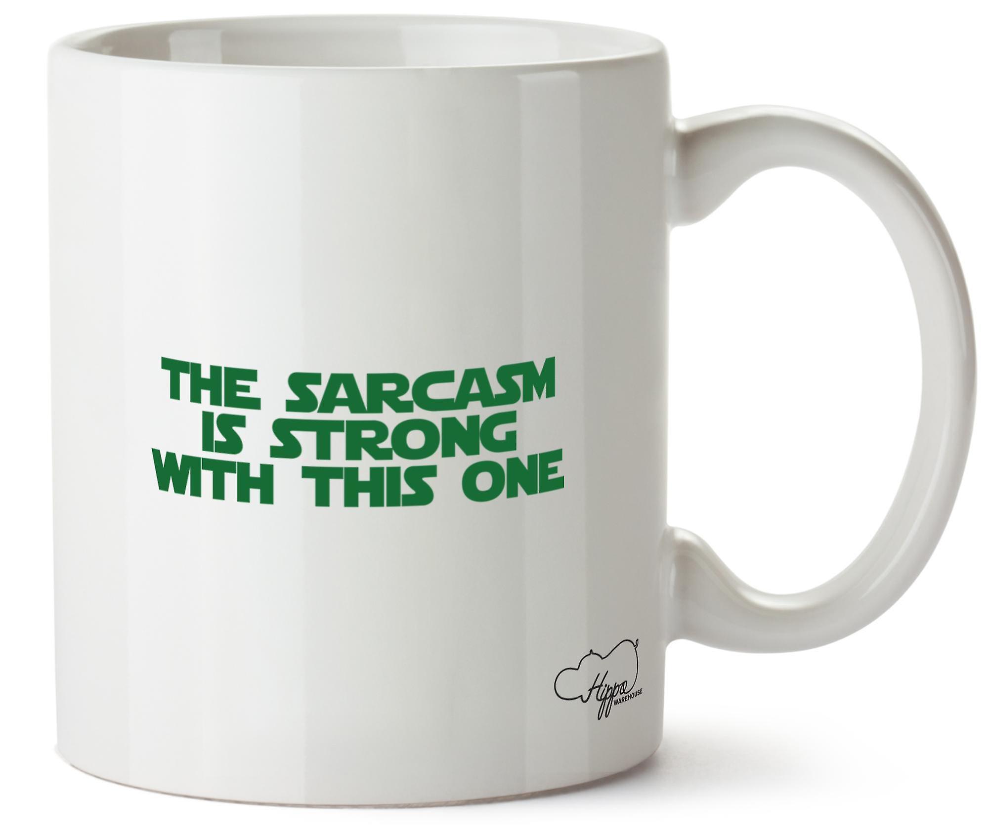 Hippowarehouse сарказм сильна с этой одной печатной кружка Кубок керамической 10oz