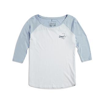 Animal Surfside langermet T-skjorte i hvitt