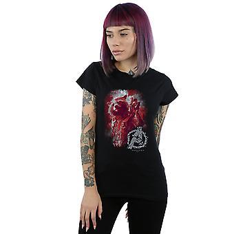 Marvel kvinnors Avengers Endgame raket borstad T-Shirt
