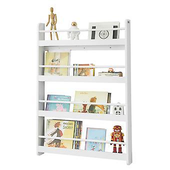 SoBuy bois blanc 4 niveaux enfants rangement mural rayonnage bibliothèque Rack KMB08-W