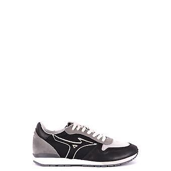 Mizuno Ezbc199001 Herren's Grau/schwarz Leder Sneakers