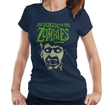 Hammer The Plague Of The Zombies Face Poster Women's T-Shirt