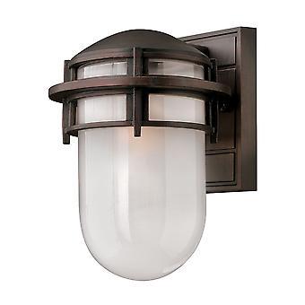 Elstead-1 lett liten utendørs vegg Lantern viktoriansk bronse IP44-HK/REEF/SM VZ
