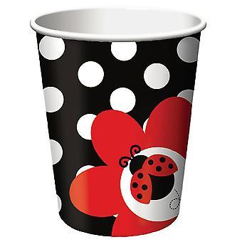 Ladybug Party Mug 256 ml 8 pieces beetle party children's birthday