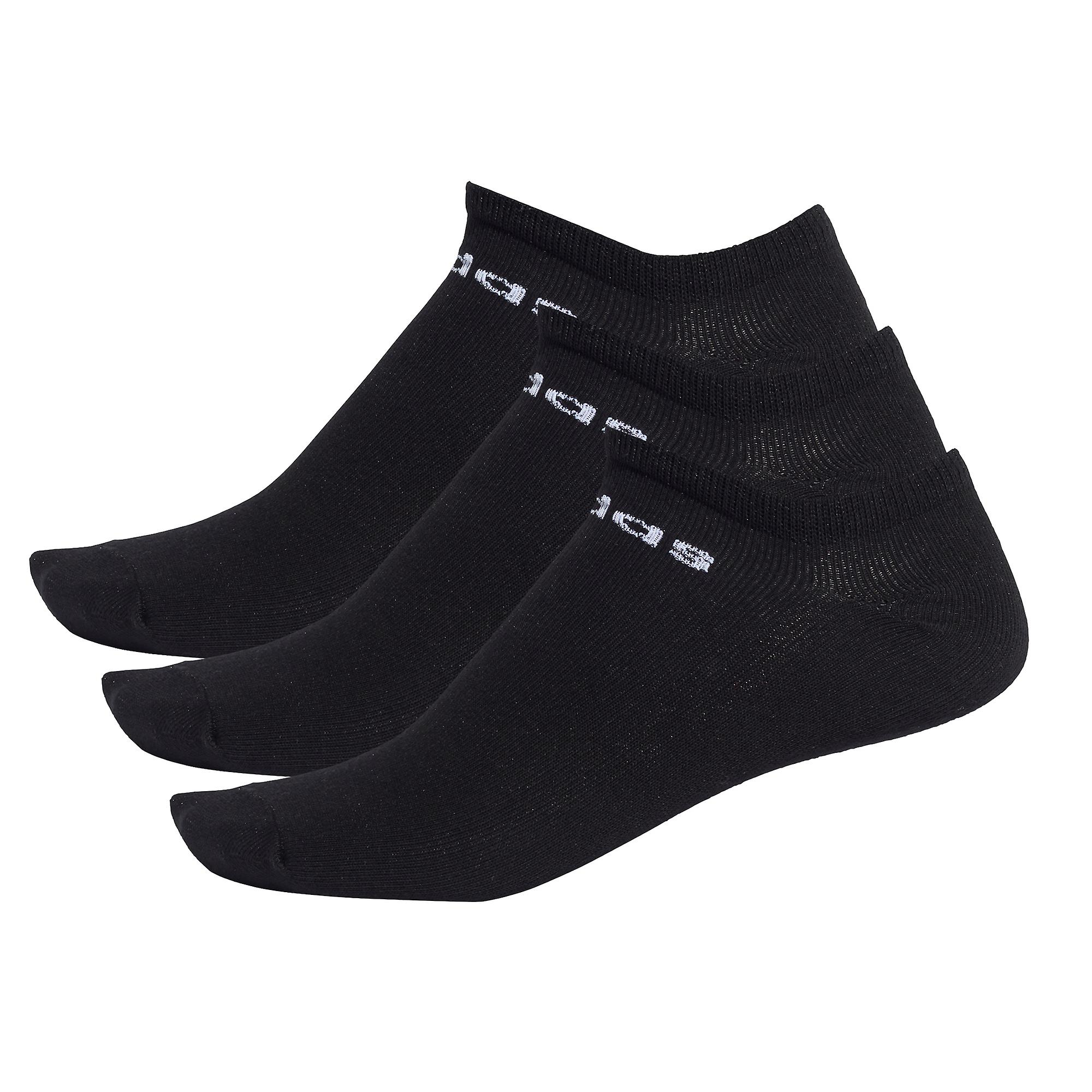 adidas Low Cut Ankle Exercise Fitness Sport Socks Black (3 Pack)
