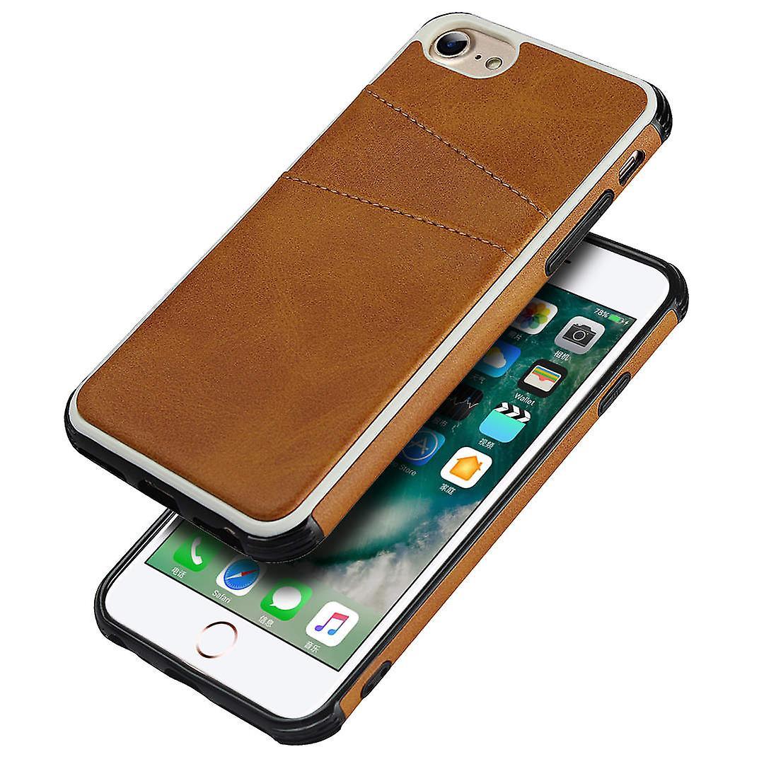 iCoverCase | iPhone 7 & 8 | Skal med kortfack | Äkta Skinn