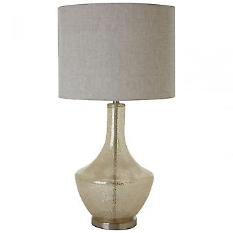 Premier Home Luca Table Lamp, Fabric, Glass