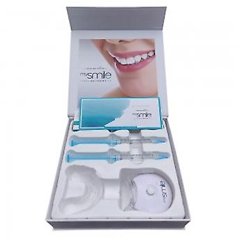 mysmile Teeth Whitening Kit - Natural Teeth Whitening at Home - Brighten Your Smile - Advanced & Safe Programme - with Light, Gel, Tray + Shade Guide