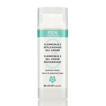 REN ClearCalm 3 påfyllning Gel Cream 50ml