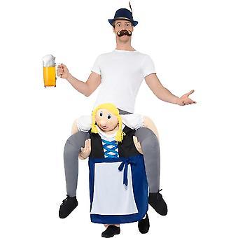 Henges bayerske Beer Maiden drakt, Oktoberfest Beer Festival Fancy Dress