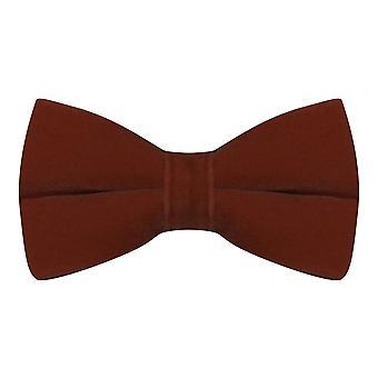 Luxury Walnut Brown Velvet Bow Tie