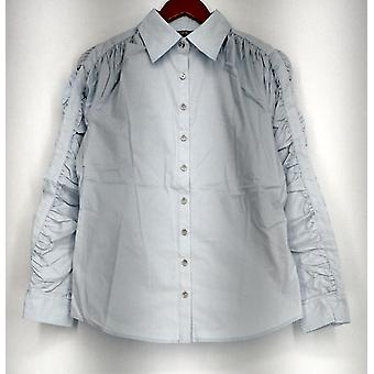 Bradley by Bradley Bayou alkuun pitkähihainen nappi paita sininen A214816