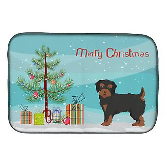 Carolines Treasures  CK3882DDM Yorkiepoo #1 Christmas Tree Dish Drying Mat