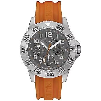nautica- nsr 104 multi Japanese Quartz Analog Man Watch with NAD13543G Silicone Bracelet