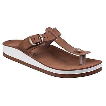 Fantasy Womens Viola Buckle Up Sandal Tobacco Edition