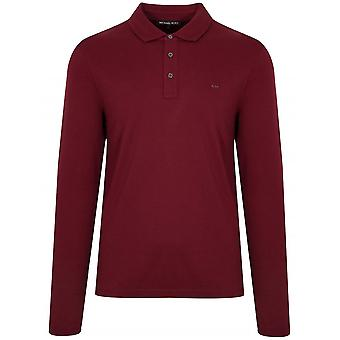 Michael Kors  Merlot Red Long-Sleeve Polo Shirt