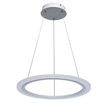Glasberg-LED hänge en ring vit finish 661014601
