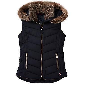 Joules Girls Alanis Quilted Hooded Warm Gilet Body Warmer