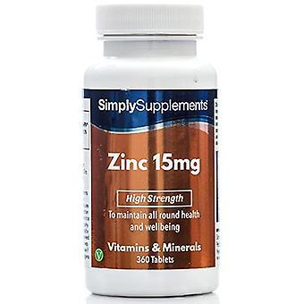 Zinc-15mg - 360 Tablets