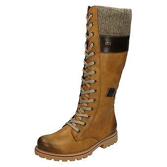 Senhoras Rieker bezerro botas altas Z1442
