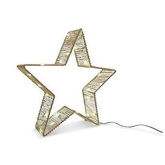 Stern mit LED-Beleuchtung weiß 35 cm