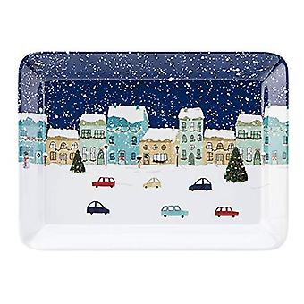 Foxwood Home Winter Scene Scatter Tray