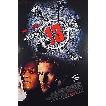Hyökkäys Precinct 13 (kaksipuolinen Regular) alkuperäinen elokuva juliste