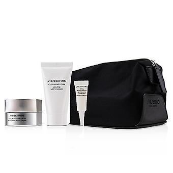 Shiseido Men Total Age-defense Program Set: 1xtotal Revitalizer Cream 50ml+1xcleansing Foam 30ml+1xtotal Revitalizer Eye 3ml+1xpouch - 4pcs