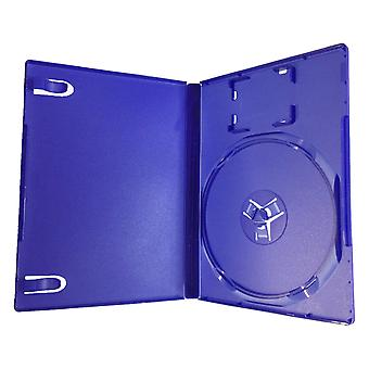 Compatible replacement retail game disc storage case for sony ps2 - blue