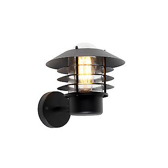QAZQA Modern outdoor wall lamp black IP44 - Prato Up